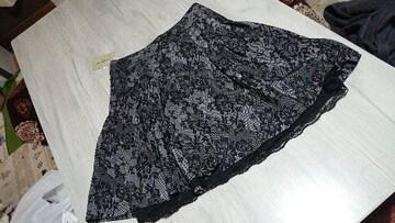 ◆新品タグ付◆花柄レース風スカート w80