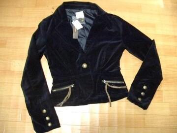 新品■Mサイズ■スウェード調デザインおしゃれ黒ジャケット