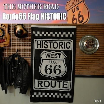 【送料無料】ルート66 旗 リアル・フラッグ Route66/1