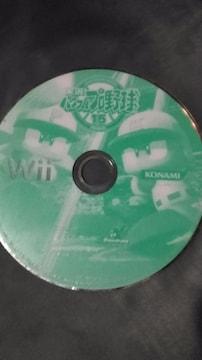Wiiソフト/パワプロ・実況パワフルプロ野球15 ディスクのみ