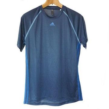 新品◆adidas 紺色3stクライマライトTシャツ(XO)