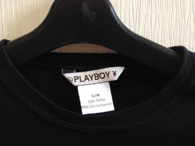 PLAY BOY半袖黒色ブラックTシャツ < ブランドの