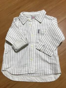 美品 コンビミニ 7分袖 シャツ 90