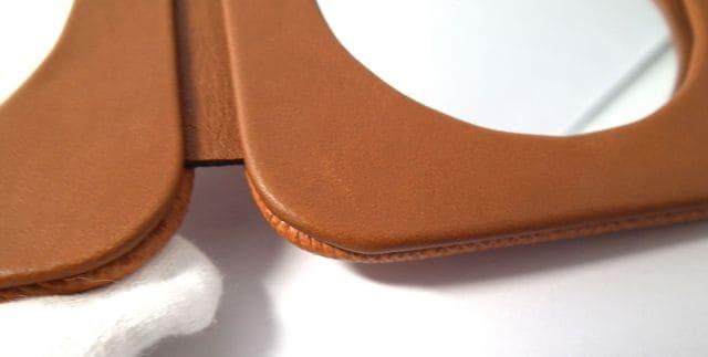 正規未使用ロレックス鏡ノベルティミラー二つ折り型押しレザ < ブランドの