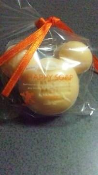 ディズニー ミッキー型 石鹸 ハッピーソープ オレンジの香り ★