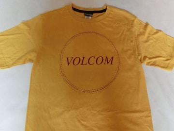 USA購入 ボルコム【Volcom】ロゴプリントTシャツUS S イエロー