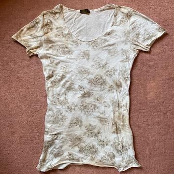 goa(ゴア)カットソー ベージュ フリーサイズ 民族系 半袖Tシャツ