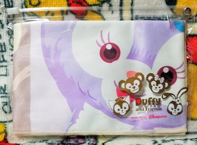 香港ディズニーランド☆ダッフィー&フレンズ【クールタオル】ビニールポーチ付き