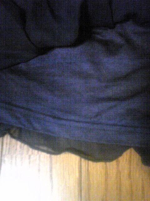 リルマ-ヴネイビーヒラミニスカートシフォン美品 < ブランドの