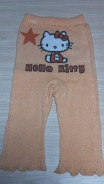 新品 Hello  Kitty防寒あったかニット5分丈パンツ(M〜L)オレンジ