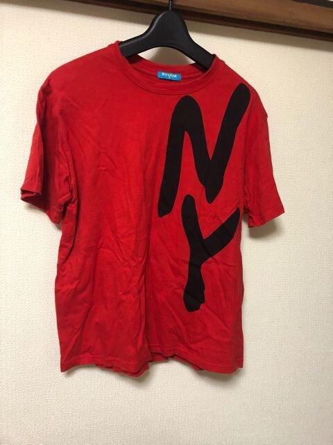 半袖Tシャツ/NY/レッド/赤/M/ダンス/衣装  < キッズ/ベビーの
