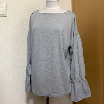 used美品image LL 大きいサイズグレーヘビロテ  長袖カットソー