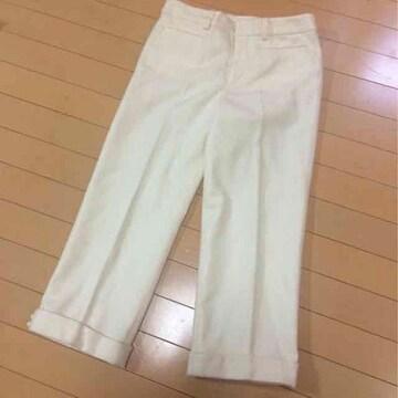 テチチTe'chichi◆ウール混◆半端丈パンツ◆Mオフホワイト