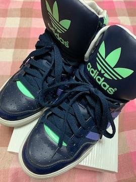 ★中古/レディースシューズ/adidas/23.5�a/ネイビー