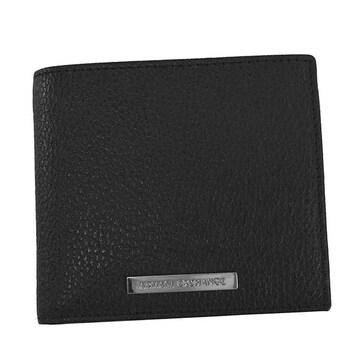 ◆新品本物◆アルマーニエクスチェンジ 2つ折財布(BK)『958098 CC206』 ◆