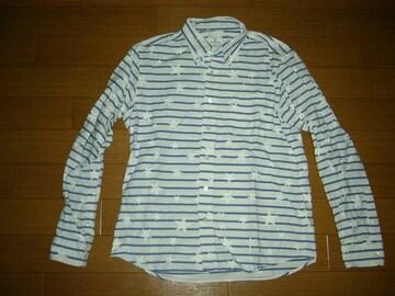 uniform experiment☆星柄ボーダーシャツ2白青SOPHNET.