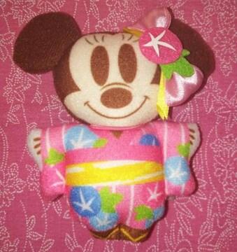 ミニーマウスミニーちゃんアジサイ浴衣姿マスコットぬいぐるみストラップアミューズメント景品