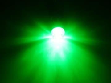 送料無料 12V24V兼用 T10 ポジション ダイヤレンズ付 緑 LED