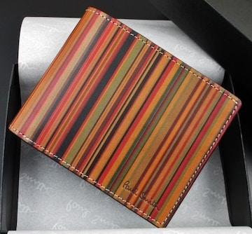 新品☆箱付 ポールスミス 人気ビンテージマルチ 二つ折り財布