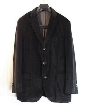 size52☆美品☆ボリオリ ドーヴァー ベロア製ドレスジャケット