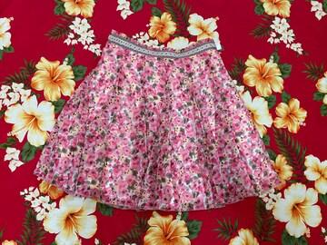アプワイザーリッシェ☆可愛いピンク花柄ミニスカート☆