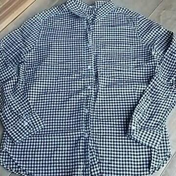 (*^-^*)GU*ギンガムチェックシャツ*Lサイズ*