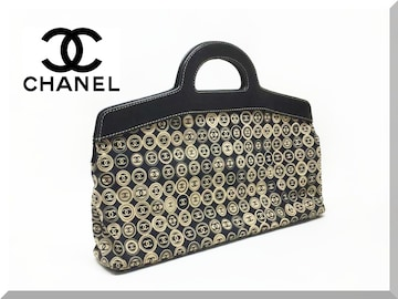 ☆CHANEL☆シャネル CC柄 スウェット素材 ハンドバッグ