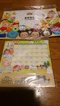 新品未使用ディズニー ツムツム★ショップ購入★2020年来年用カレンダー2種セット
