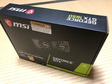 GeForce GTX 1650 4GT LP!新品未開封!1年保証付きです。