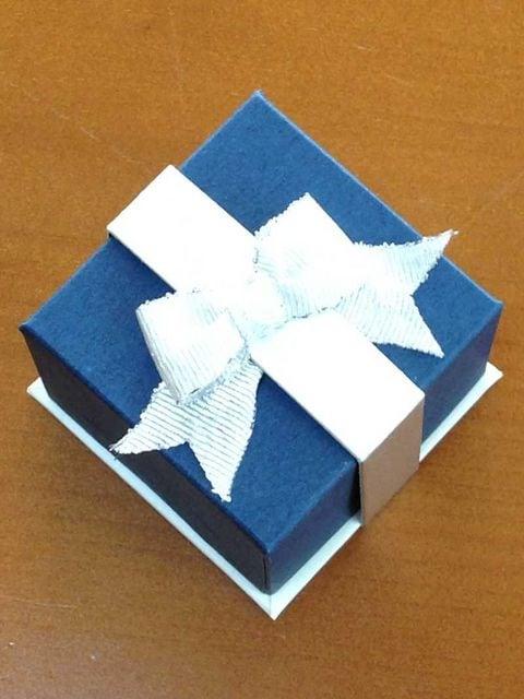 ■新品■ギフト用ジュエリーケース 指輪/ピアス 19個 紺色■ < 女性アクセサリー/時計の