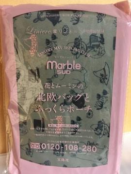 ☆マーブルシュッド☆ムーミンの北欧柄バッグとふっくらポーチ☆