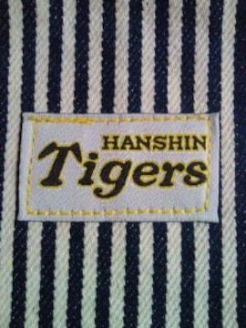 阪神タイガース BIG JOHN 丸型 ポーチ 縦縞 財布 バッグ ホワイト ピンク
