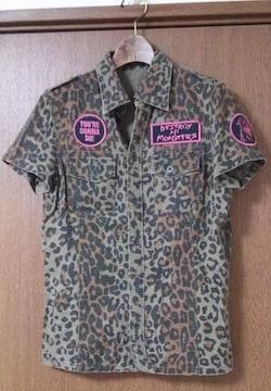 ヒステリックグラマー 豹柄半袖シャツ 中古3N