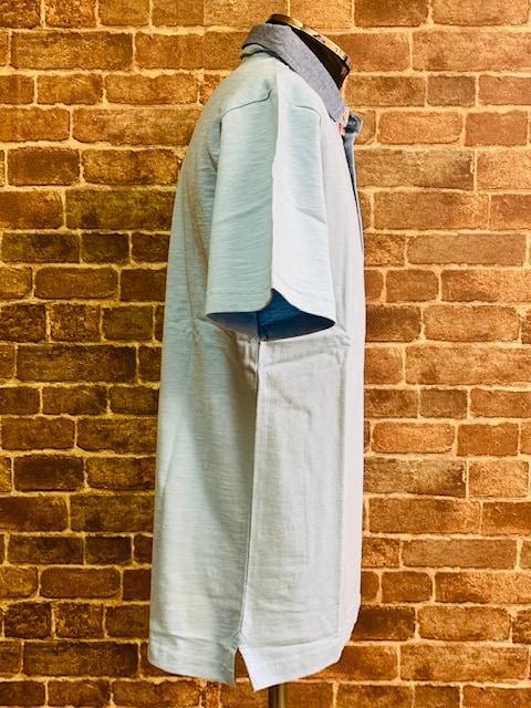 表記XL/新品!リーフ柄 Timely Warning ポロシャツ 水色 サーフ 西海岸スタイル < 男性ファッションの