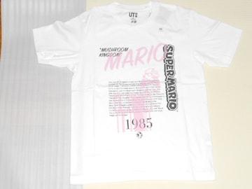 UNIQLO スーパーマリオ 35周年 ピンクロゴ 半袖Tシャツ XS