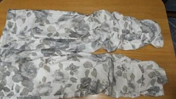 総花柄スボン◆裾シャーリング◆LLサイズ