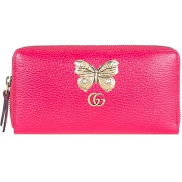 GUCCI 499363-CA0GT-5661 ファスナー長財布 レディース