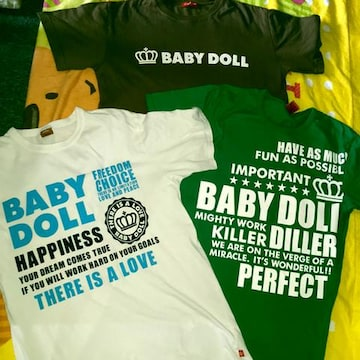#BABYDOLL#パパTシャツ3枚まとめ売りL ベビードール