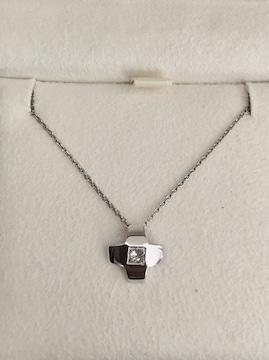 ヴァンドーム青山 ダイヤモンド クロス ネックレス Pt900 0.16ct
