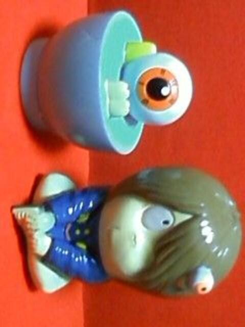 ☆ゲゲゲの鬼太郎☆ソフビ貯金箱☆2点セット☆1996☆  < アニメ/コミック/キャラクターの