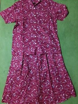美品 東京スタイル セットアップ ラメ シャツ ブラウス スカート ミモレ レトロ