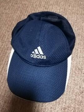 adidas 紺色 キャップ 帽子 子ども用