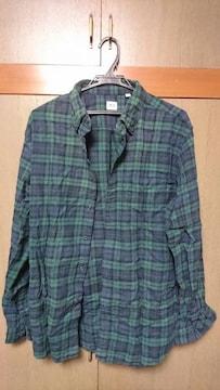 UNIQLO ネルシャツ 緑×紺 XLサイズ ユニクロ