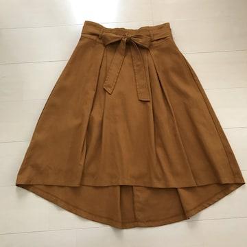 新品 ウエストリボン フレアスカート