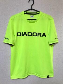 ディアドラ DIADORA Tシャツ Mサイズ 蛍光イエロー