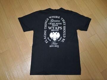 WTAPSダブルタップスTシャツ1黒エンブレム
