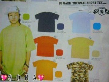 【PJ MARK】ヒップホップ.ストリート.B系無地サーマルTシャツオレンジ