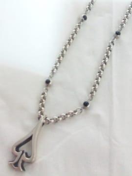 ファンクアウツ【FUNKOUTS】silver925 シルバー スペード ストーン ネックレス