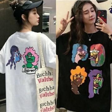 LLXL3L/新品☆個性的!!BIGTシャツ/ホワイト